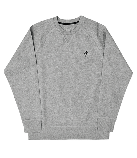 VICE CREW NECK GRAY HEATHER