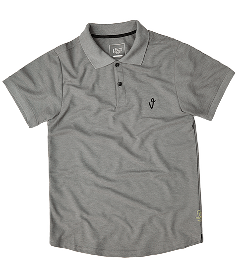 VICE LOGO POLO GRAY