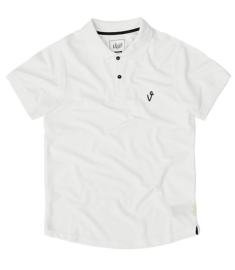 VICE LOGO POLO WHITE