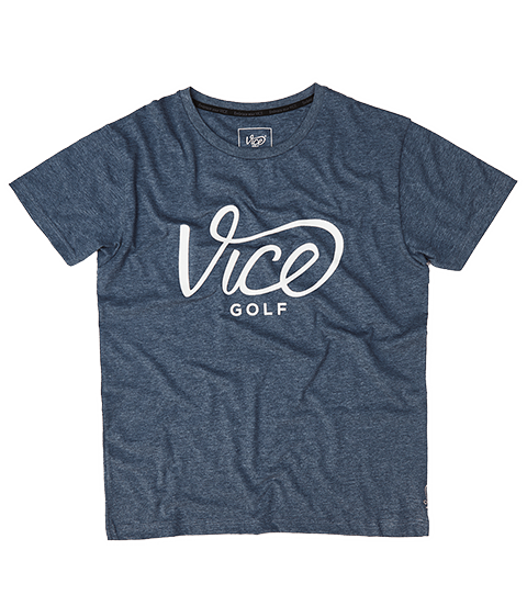 VICE LOGO T-SHIRT DARK BLUE