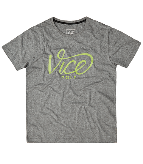 VICE LOGO T-SHIRT GRAY HEATHER