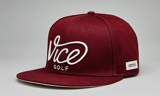 VICE Golf Crew Snapback Cap – Wine – VICE Golf UK