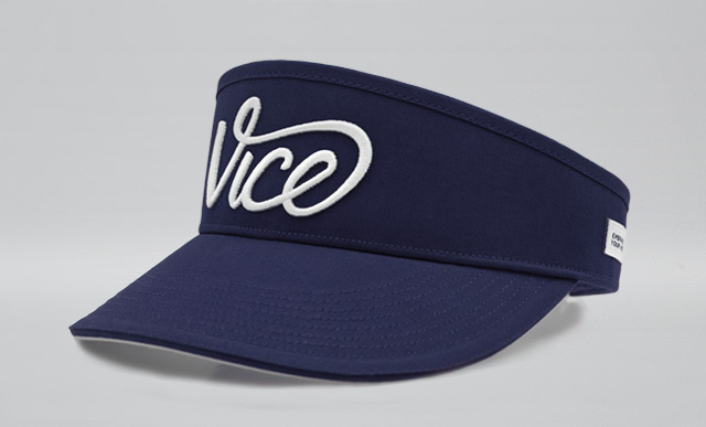 VICE Golf Visor – HighCrown Blue VICE Golf baed266be16